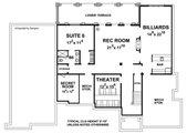 European Style House Plan - 6 Beds 6.5 Baths 5963 Sq/Ft Plan #20-2472