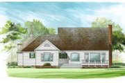 Country Style House Plan - 4 Beds 3 Baths 2806 Sq/Ft Plan #137-244 Exterior - Rear Elevation