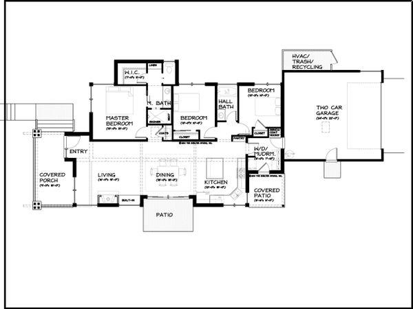 Modern Floor Plan - Main Floor Plan Plan #895-31