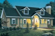 Cottage Style House Plan - 3 Beds 2 Baths 1140 Sq/Ft Plan #57-151 Exterior - Front Elevation