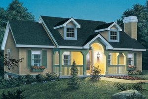 Cottage Exterior - Front Elevation Plan #57-151