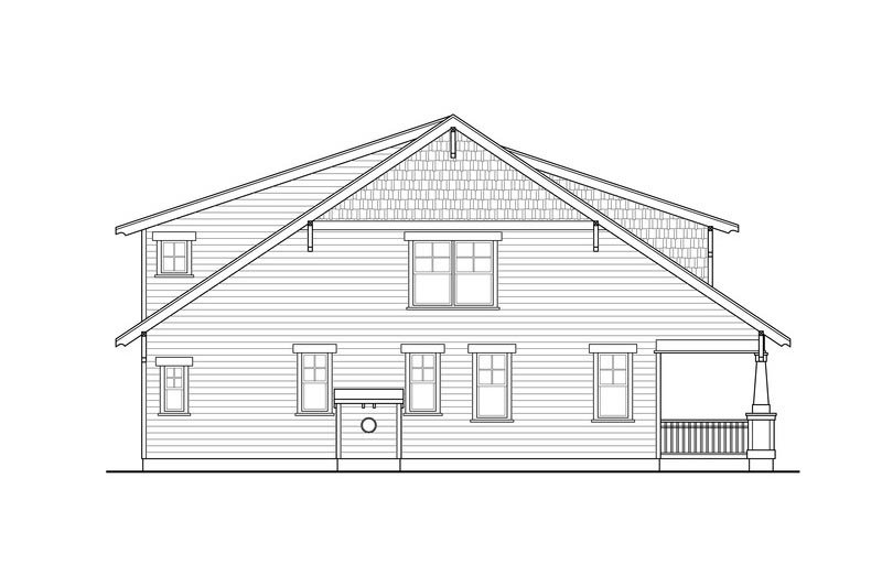 Craftsman Exterior - Other Elevation Plan #124-844 - Houseplans.com