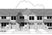 Craftsman Style House Plan - 3 Beds 2.5 Baths 4086 Sq/Ft Plan #423-8 Exterior - Front Elevation