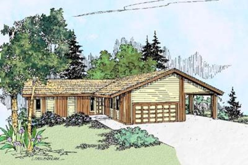 Ranch Exterior - Front Elevation Plan #60-380