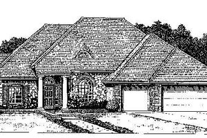 Colonial Exterior - Front Elevation Plan #310-727