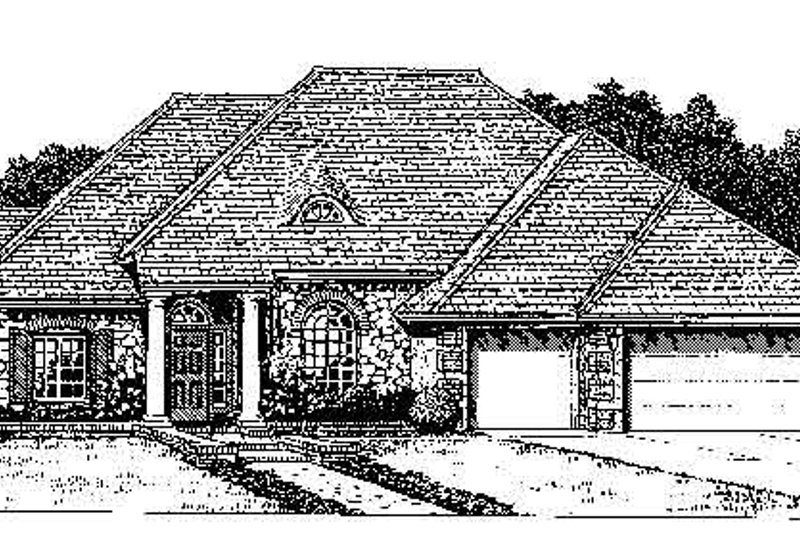 Colonial Style House Plan - 3 Beds 3 Baths 2393 Sq/Ft Plan #310-727 Exterior - Front Elevation