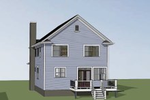 Country Exterior - Rear Elevation Plan #79-263