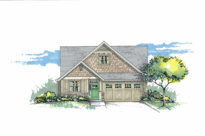Craftsman Exterior - Front Elevation Plan #53-602