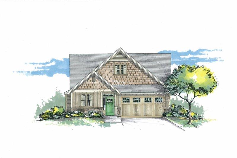 Craftsman Exterior - Front Elevation Plan #53-602
