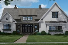 Dream House Plan - Farmhouse Exterior - Front Elevation Plan #51-1156