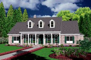 Colonial Exterior - Front Elevation Plan #36-238