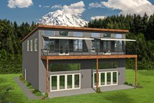 Dream House Plan - Contemporary Exterior - Front Elevation Plan #932-51