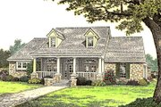 Country Style House Plan - 3 Beds 2.5 Baths 2688 Sq/Ft Plan #310-663 Exterior - Front Elevation