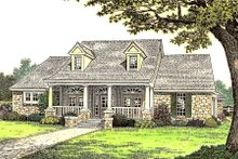 Country Exterior - Front Elevation Plan #310-663