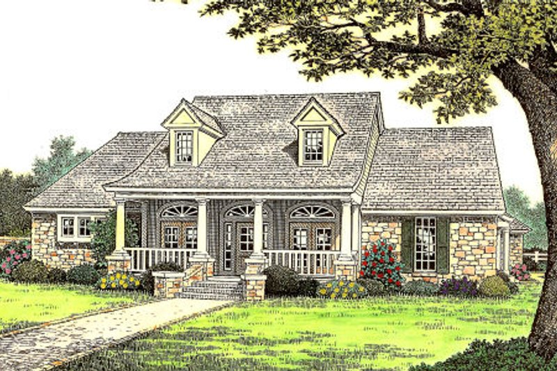 Dream House Plan - Country Exterior - Front Elevation Plan #310-663