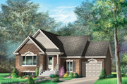 Country Style House Plan - 2 Beds 1 Baths 1101 Sq/Ft Plan #25-4639 Exterior - Front Elevation