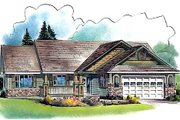 Ranch Style House Plan - 2 Beds 2.5 Baths 1863 Sq/Ft Plan #18-329 Exterior - Front Elevation