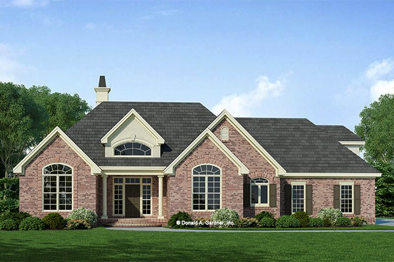 European Style House Plan - 3 Beds 2 Baths 1488 Sq/Ft Plan #929-55 Exterior - Front Elevation