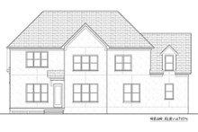 Tudor Exterior - Rear Elevation Plan #413-888