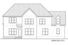 Tudor Exterior - Rear Elevation Plan #413-888