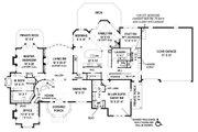 European Style House Plan - 4 Beds 3.5 Baths 4770 Sq/Ft Plan #119-429 Floor Plan - Main Floor Plan
