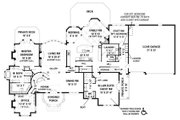 European Style House Plan - 4 Beds 3.5 Baths 4770 Sq/Ft Plan #119-429 Floor Plan - Main Floor Plan