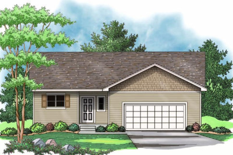Traditional Exterior - Other Elevation Plan #51-372 - Houseplans.com