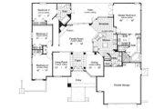 Mediterranean Style House Plan - 4 Beds 2 Baths 2060 Sq/Ft Plan #417-187 Floor Plan - Main Floor Plan
