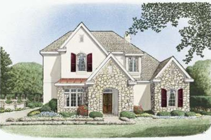 European Exterior - Front Elevation Plan #410-352