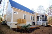 Country Style House Plan - 4 Beds 3 Baths 2034 Sq/Ft Plan #927-258 Exterior - Rear Elevation