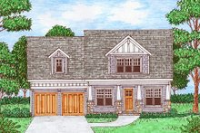 Home Plan - Bungalow Exterior - Front Elevation Plan #413-880
