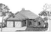 European Style House Plan - 3 Beds 2 Baths 1198 Sq/Ft Plan #310-195