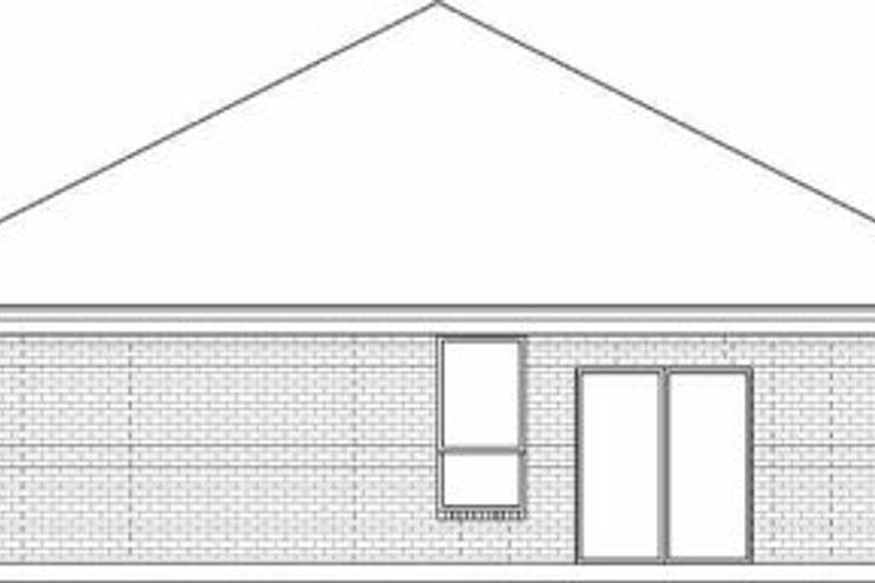Traditional Exterior - Rear Elevation Plan #84-127 - Houseplans.com