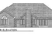 Traditional Style House Plan - 3 Beds 2 Baths 2153 Sq/Ft Plan #70-318 Exterior - Rear Elevation