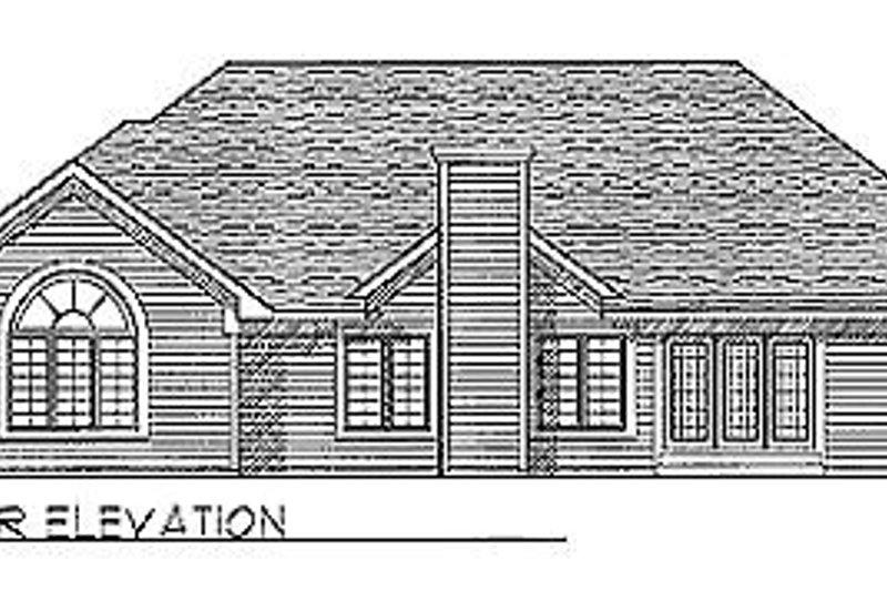 Traditional Exterior - Rear Elevation Plan #70-318 - Houseplans.com