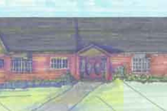 Ranch Exterior - Front Elevation Plan #136-112