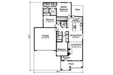 Craftsman Floor Plan - Main Floor Plan Plan #46-896