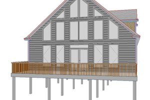 Cottage Exterior - Front Elevation Plan #63-262
