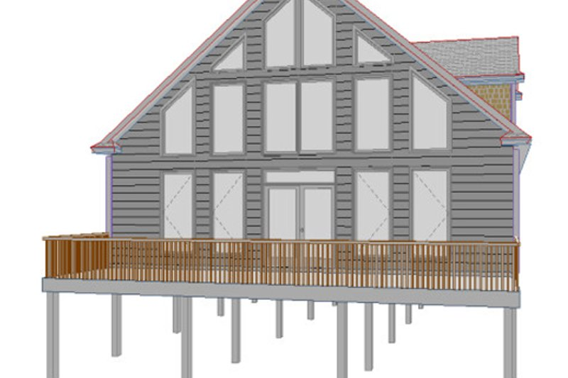 Cottage Style House Plan - 3 Beds 2.5 Baths 2038 Sq/Ft Plan #63-262 Exterior - Front Elevation