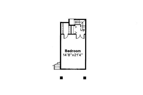 Contemporary Floor Plan - Lower Floor Plan Plan #124-261