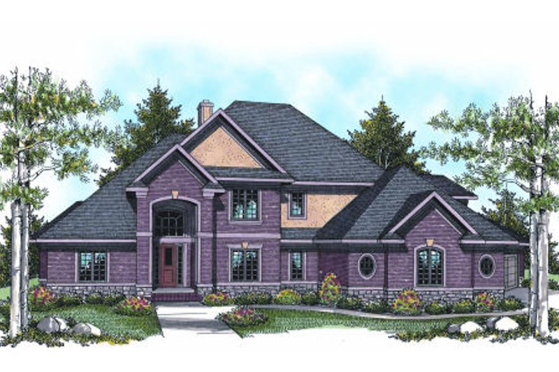 Dream House Plan - European Exterior - Front Elevation Plan #70-957
