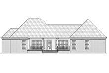 House Plan Design - European Exterior - Rear Elevation Plan #21-373