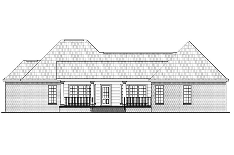 European Exterior - Rear Elevation Plan #21-373 - Houseplans.com