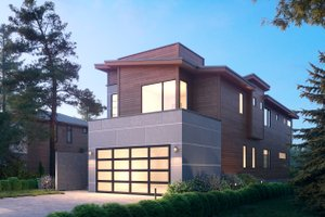 Architectural House Design - Modern Exterior - Front Elevation Plan #1066-106