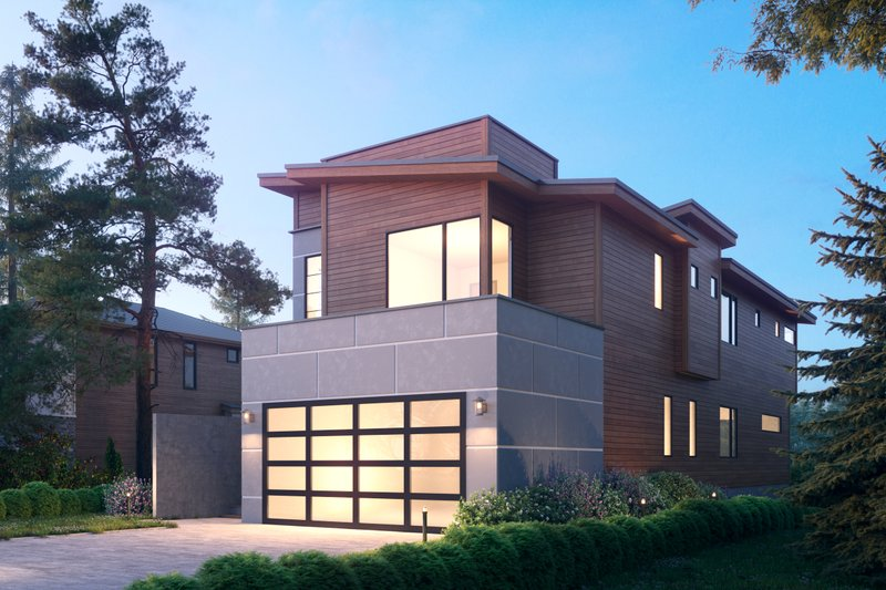 Modern Exterior - Front Elevation Plan #1066-106