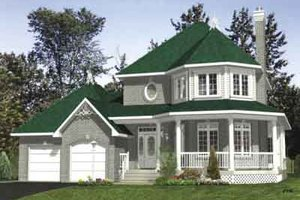 Victorian Exterior - Front Elevation Plan #138-162