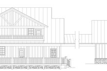House Plan Design - Country Exterior - Rear Elevation Plan #932-389