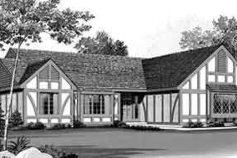 Colonial Exterior - Front Elevation Plan #72-450
