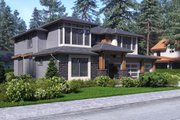 Contemporary Style House Plan - 4 Beds 4 Baths 3450 Sq/Ft Plan #1066-47 Exterior - Other Elevation
