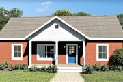 Ranch Style House Plan - 3 Beds 2 Baths 1311 Sq/Ft Plan #44-228 Exterior - Front Elevation